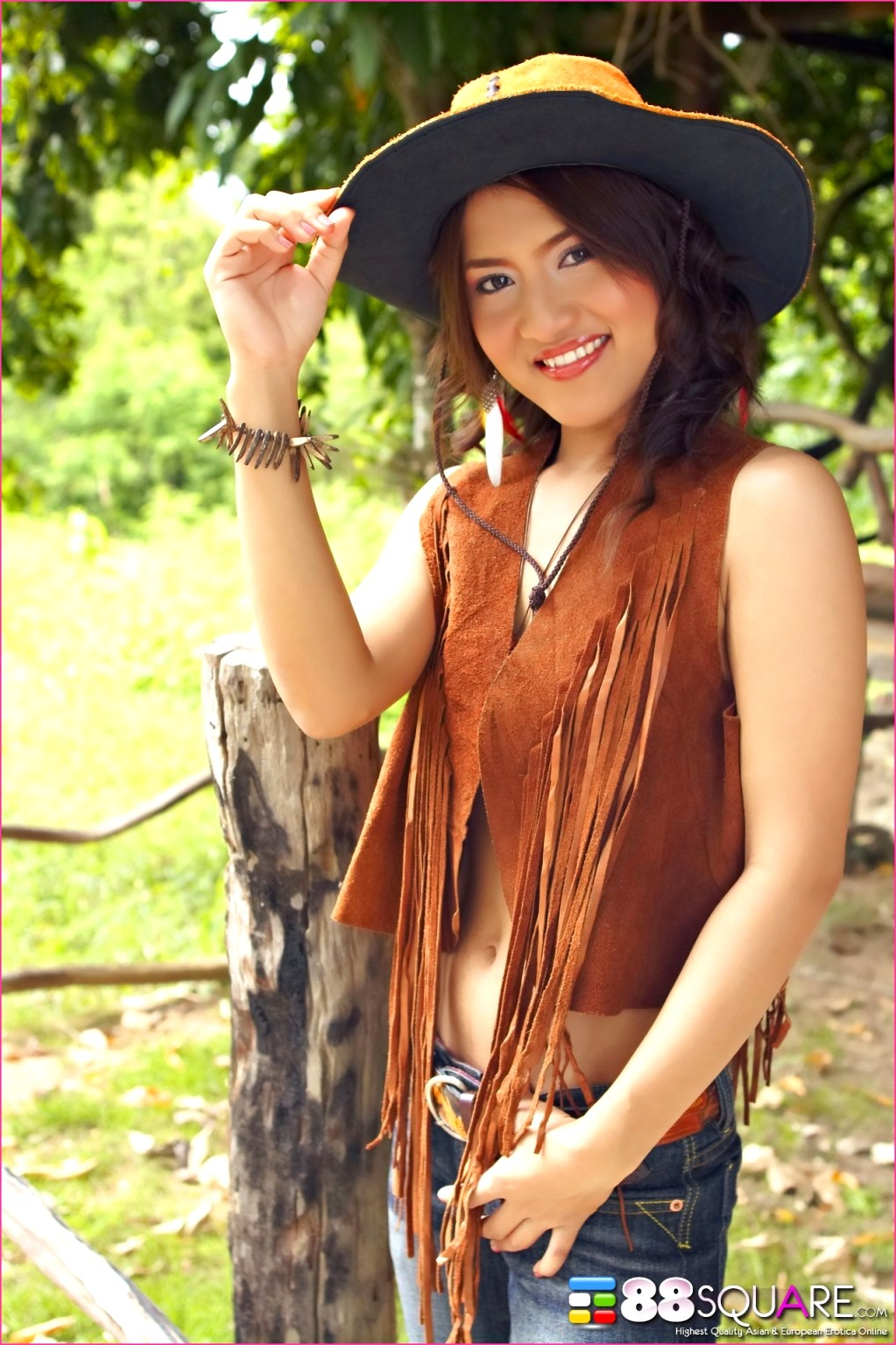 Nude asian cowgirl — photo 11