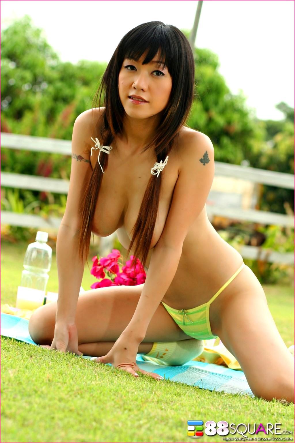 Asian shaved thong, big tits beautiful
