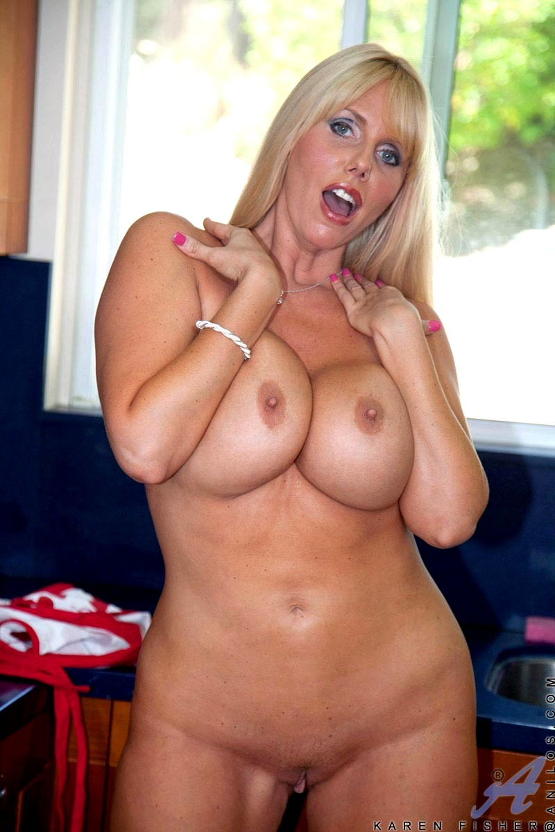 Anilos Karen Fisher Classic Busty Blonde Housewife Mobi -3486