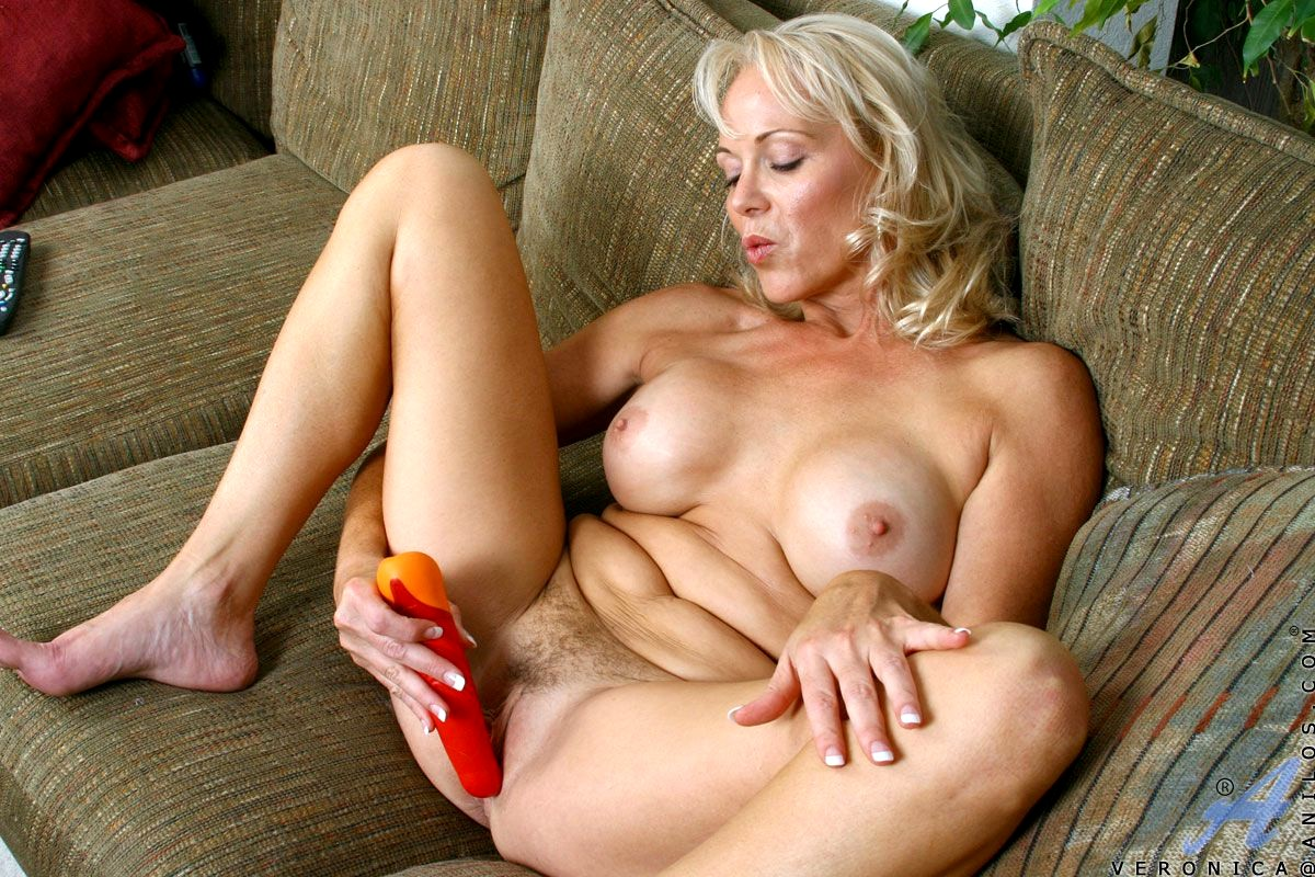 Mature women with big tits are masturbating in various situations, while no one else is