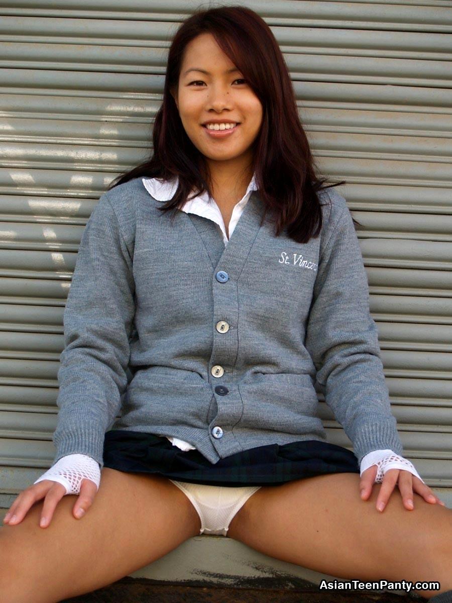 Asian teen panty thumbs