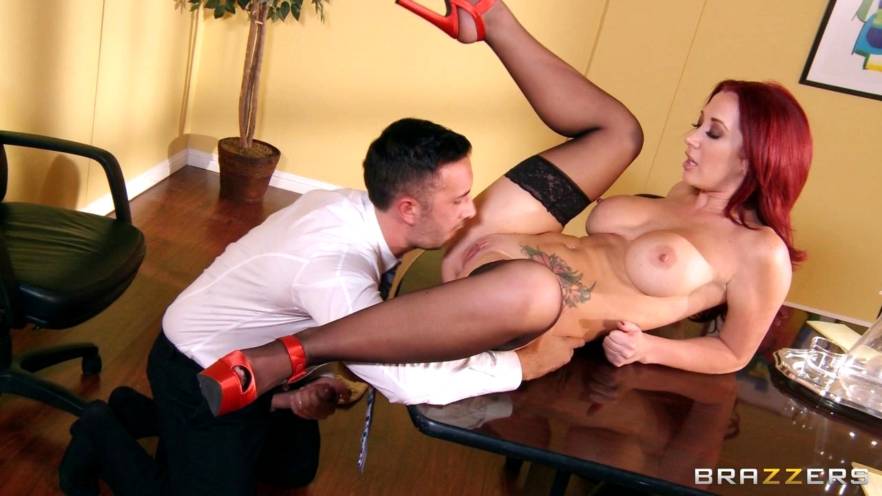 Voluptuous blonde boss likes when her employees lick her pussy and fuck her brains out
