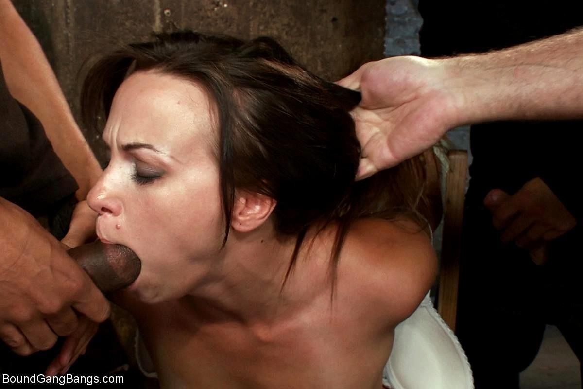 Forced femdom cuckold creampie eating
