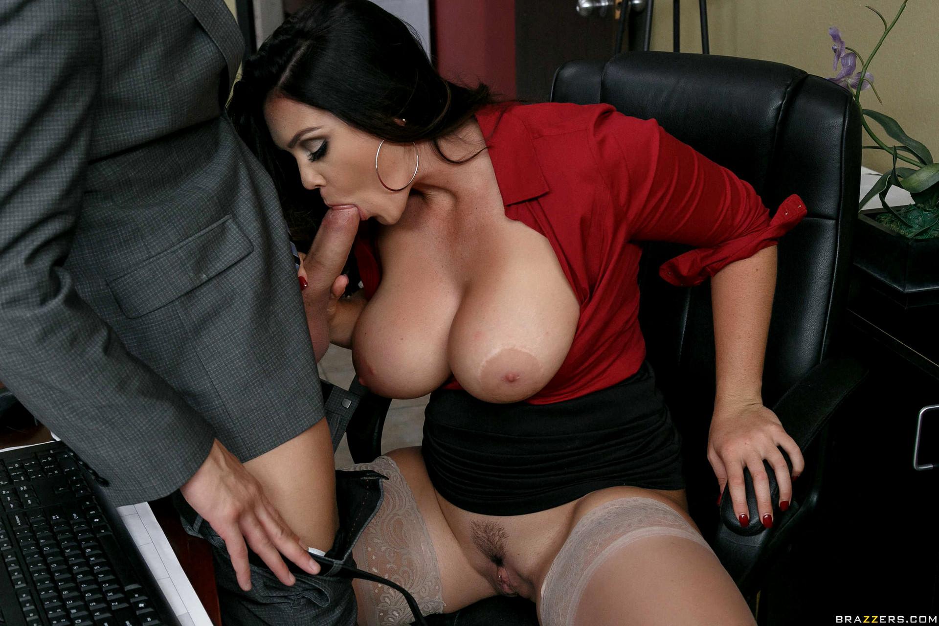 Онлайн порно видео грудастую секретаршу на двоих — img 14