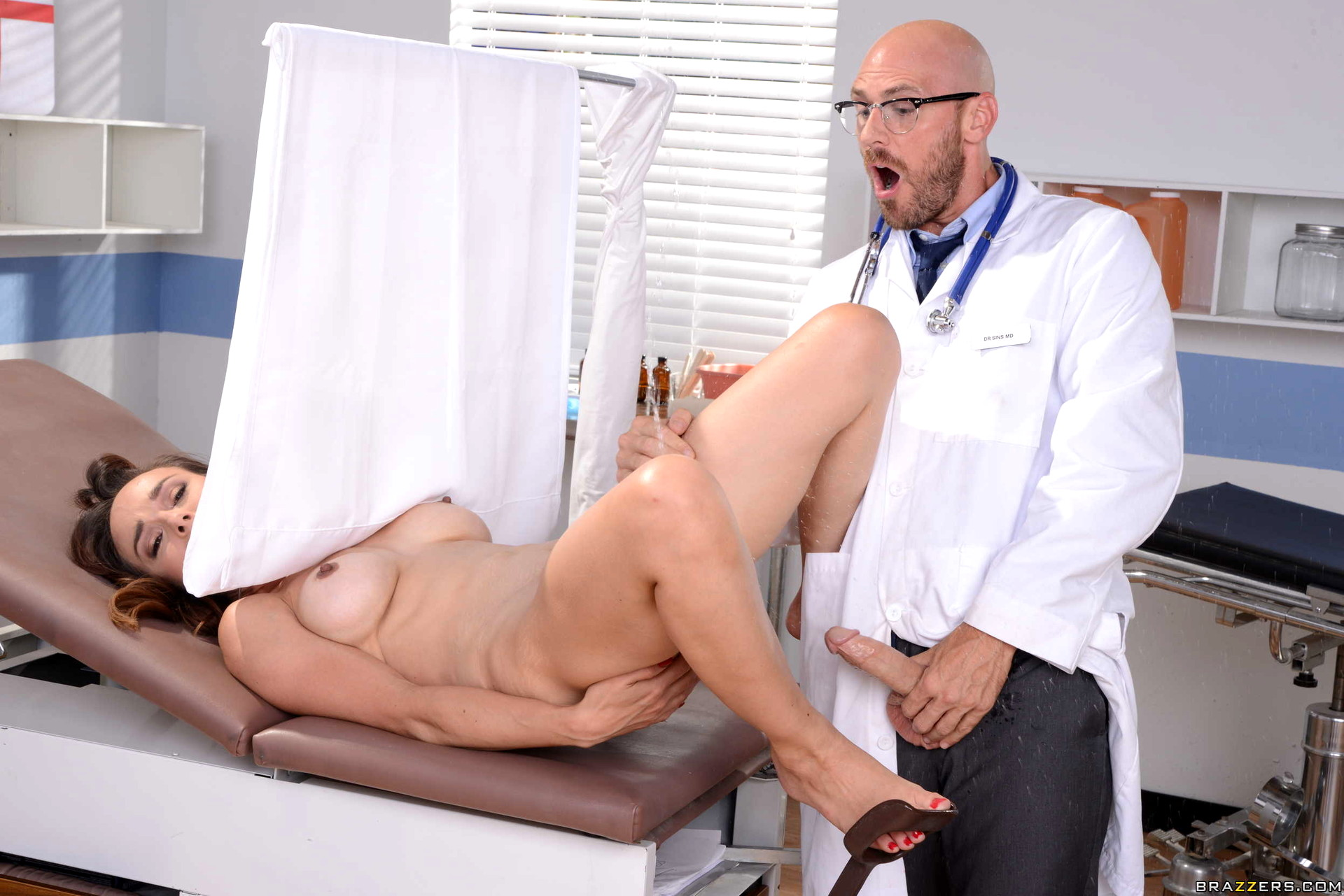 Naughty busty doctor fucked her patient