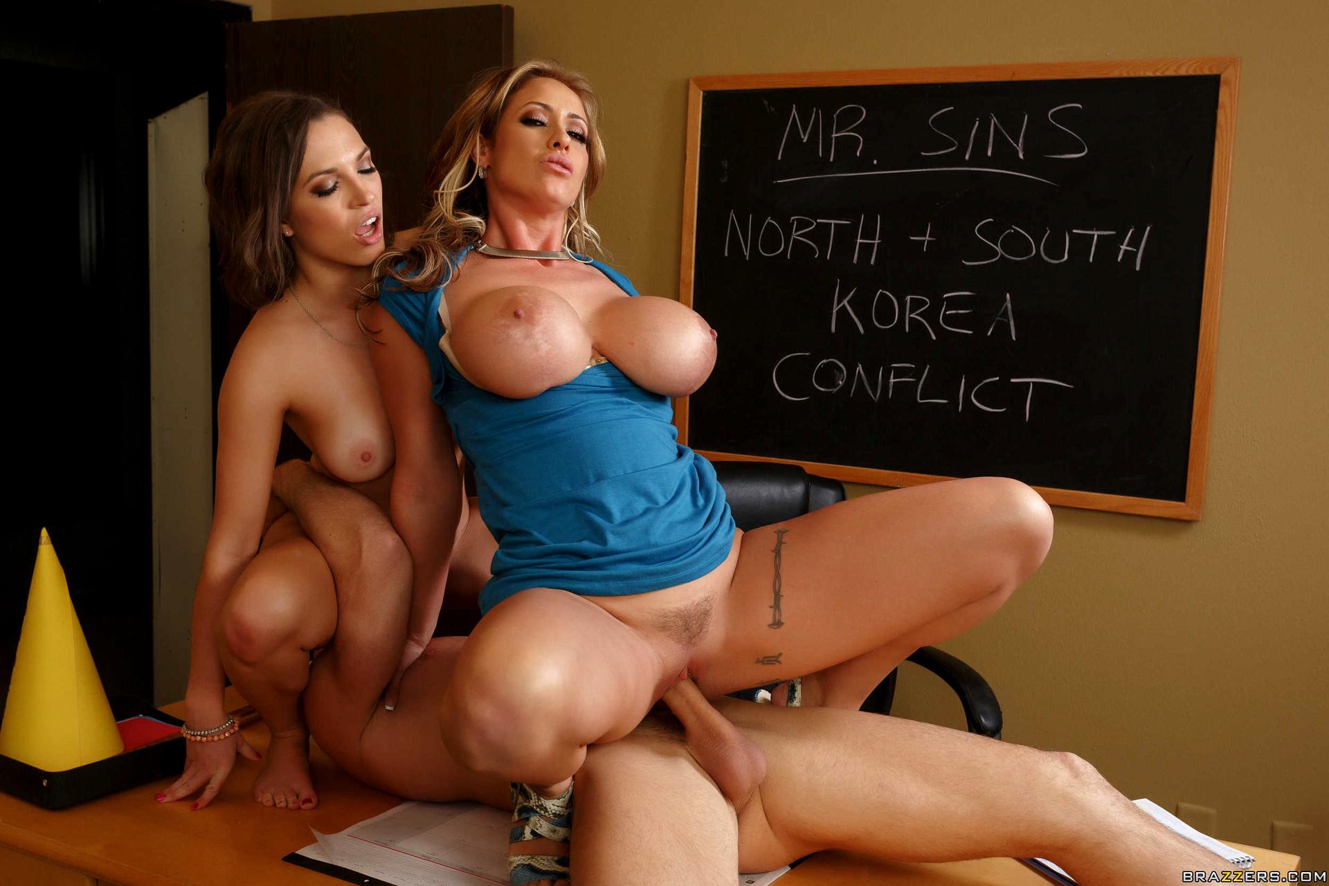 Big tits at school step in mom