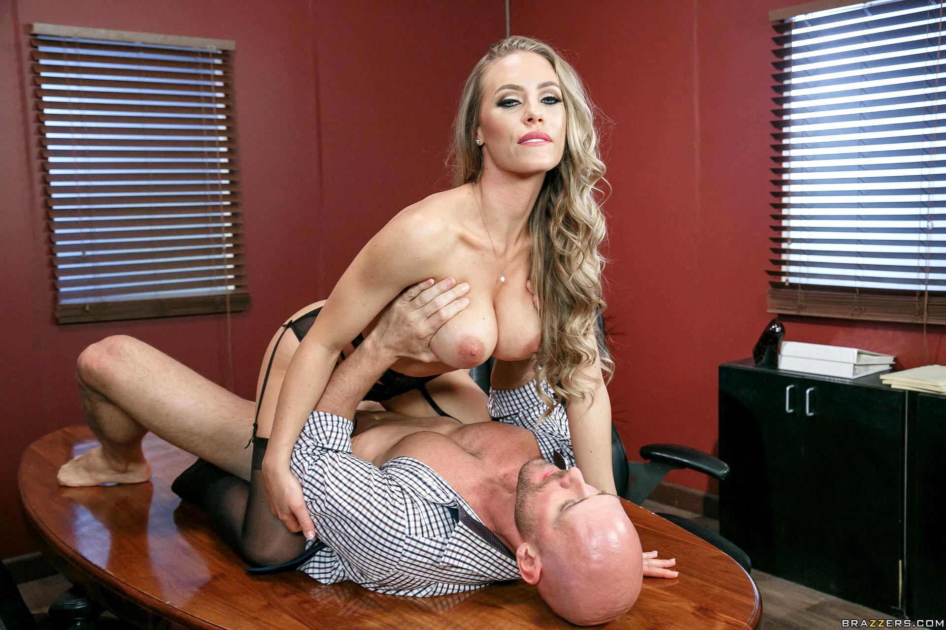 Big tits at work nude