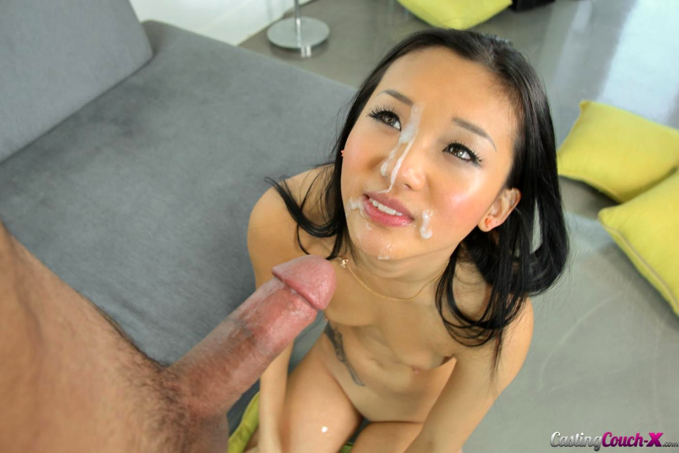 Asian girl gets cummed — photo 9