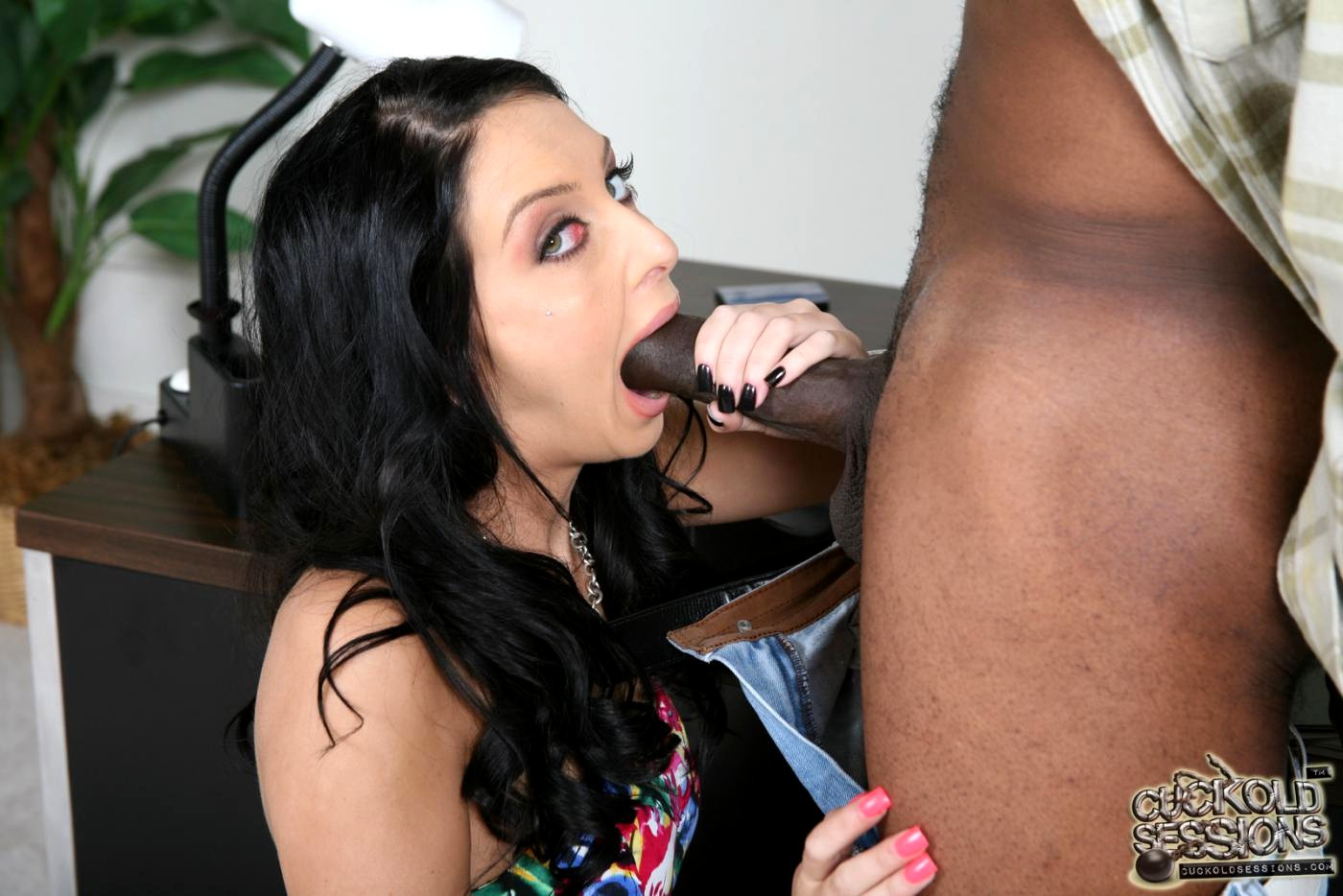 Stephanie cane black cock
