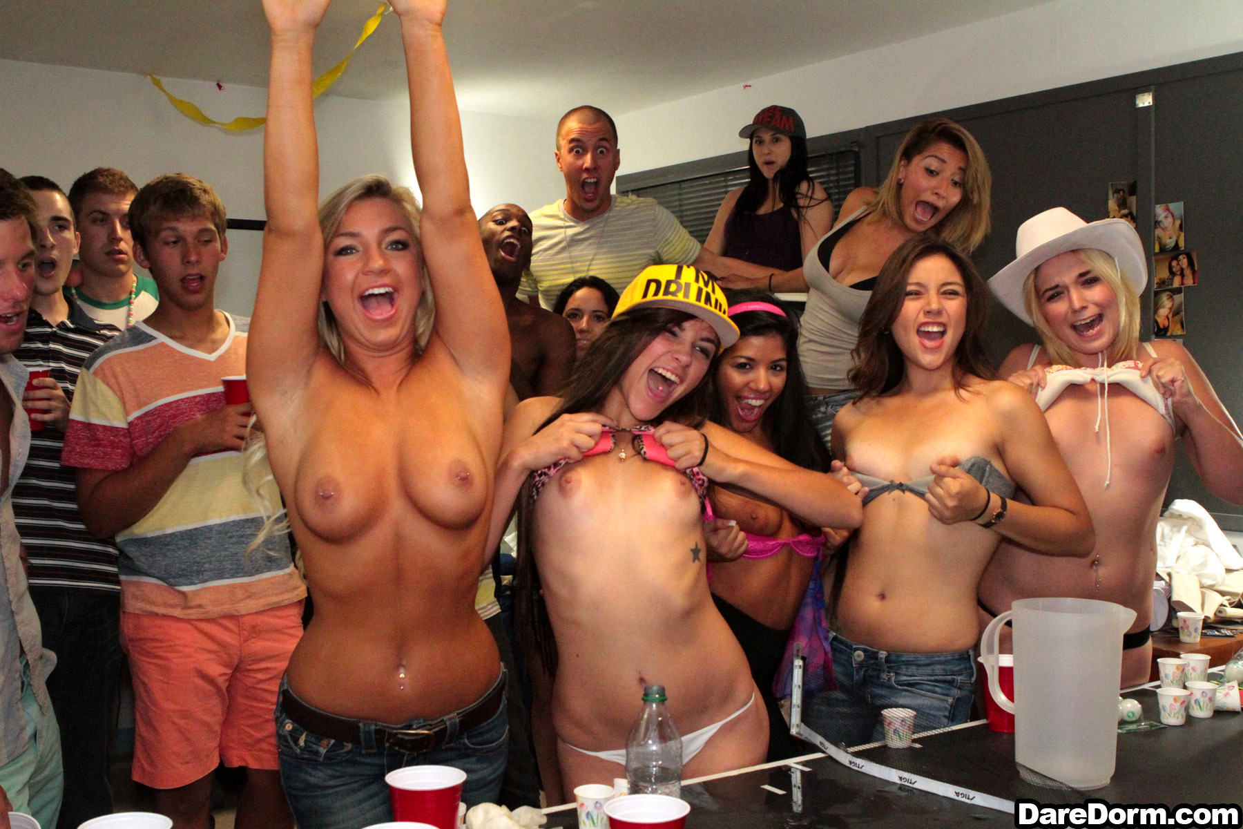 College party nude girl