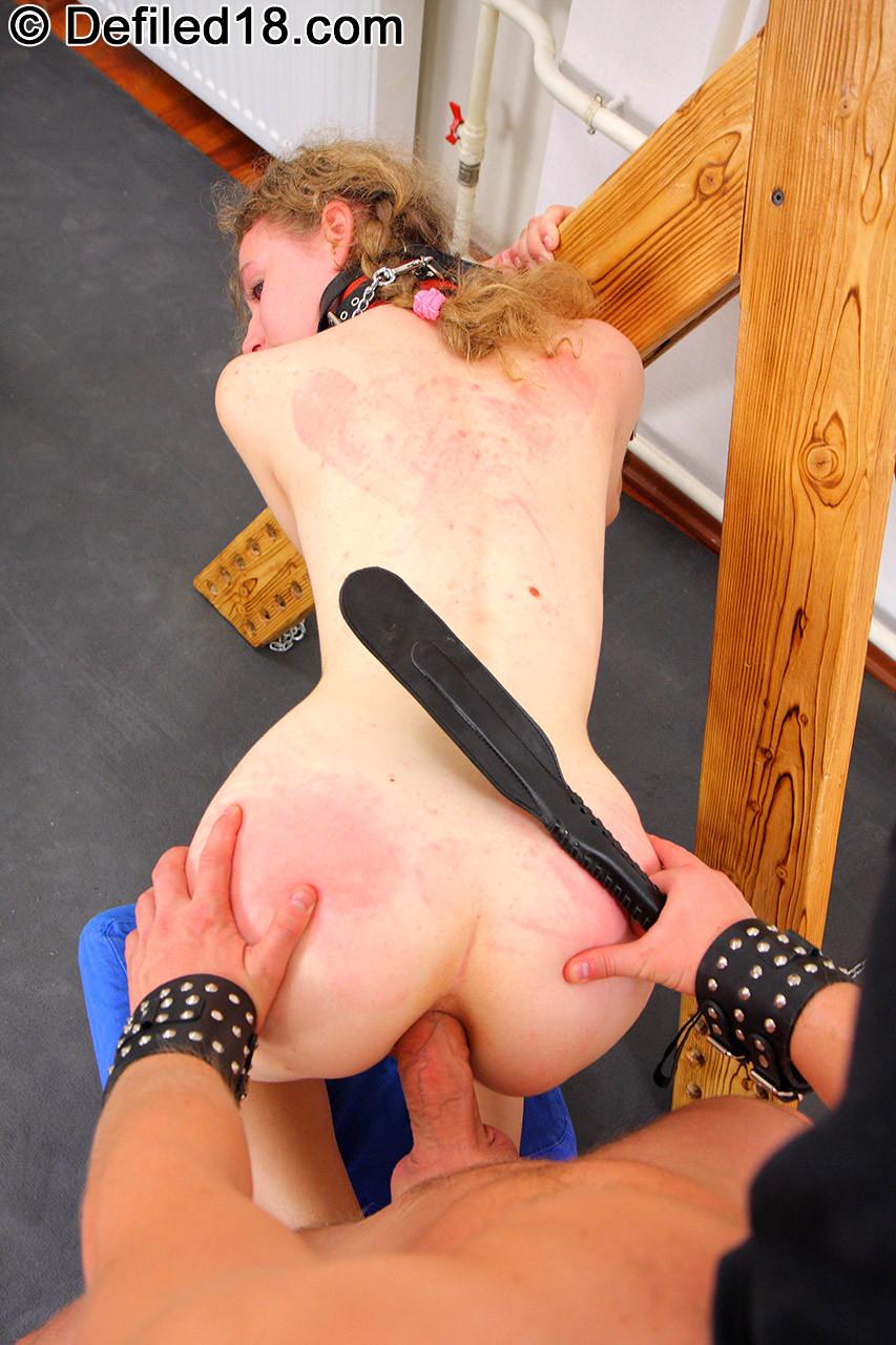 Forced anal bondage