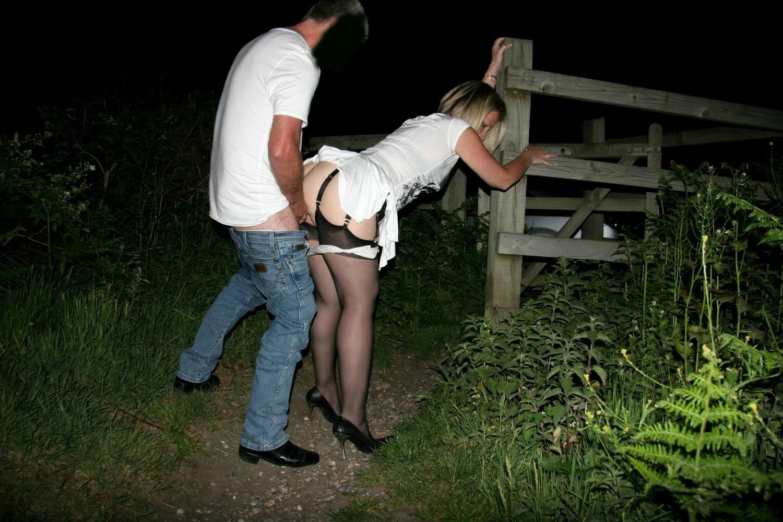 смотреть секс ночью на улице