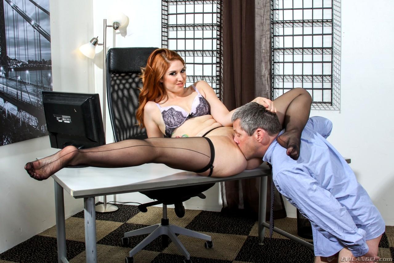 Office milf licking ass