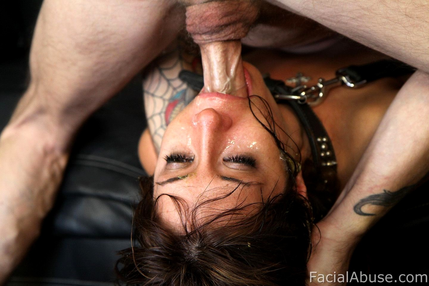 Beautiful Slave Girl With A Ring Gag In Her Mouth Audrey Rose Is Face Fucked