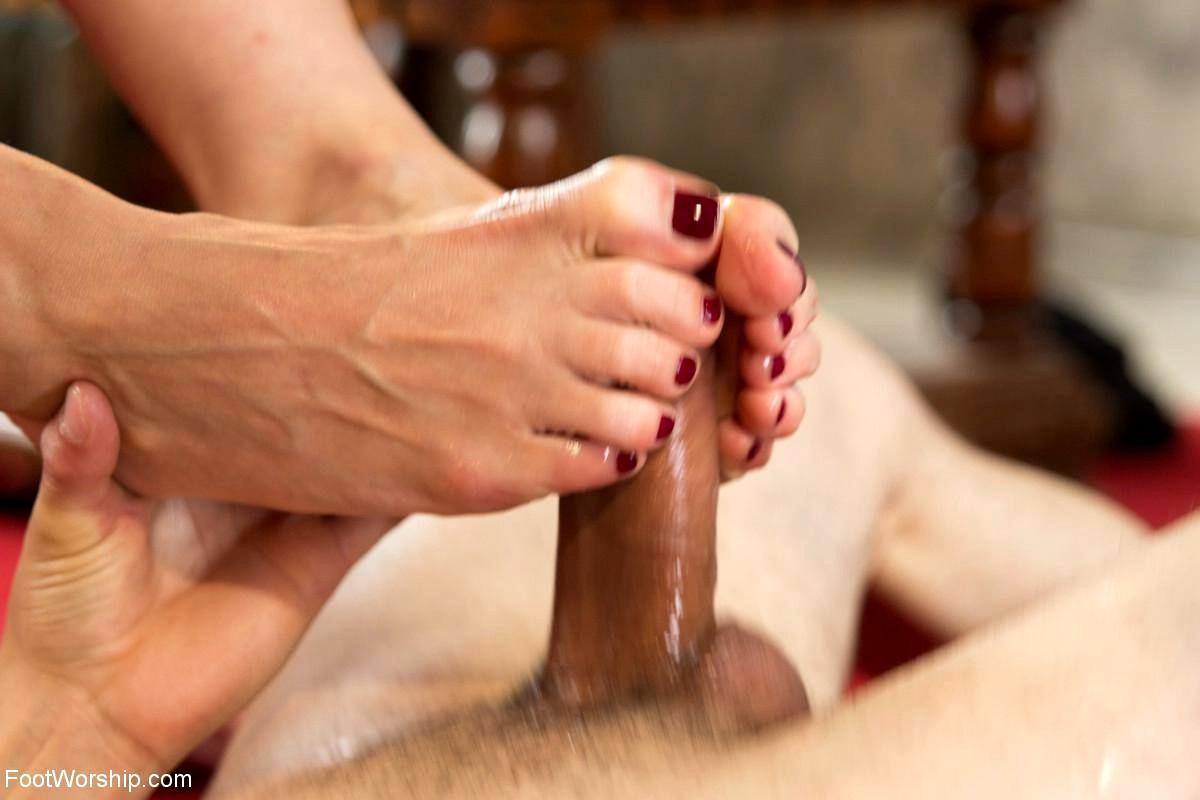 Foot sex worship