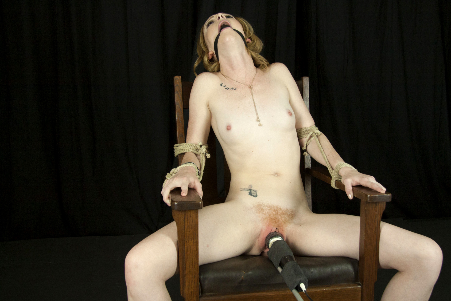 Tightly bound and forced orgasm