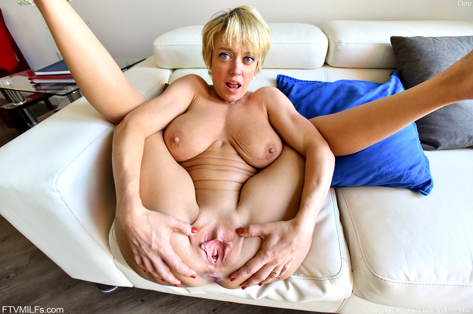 sexy young milf spreading pussy