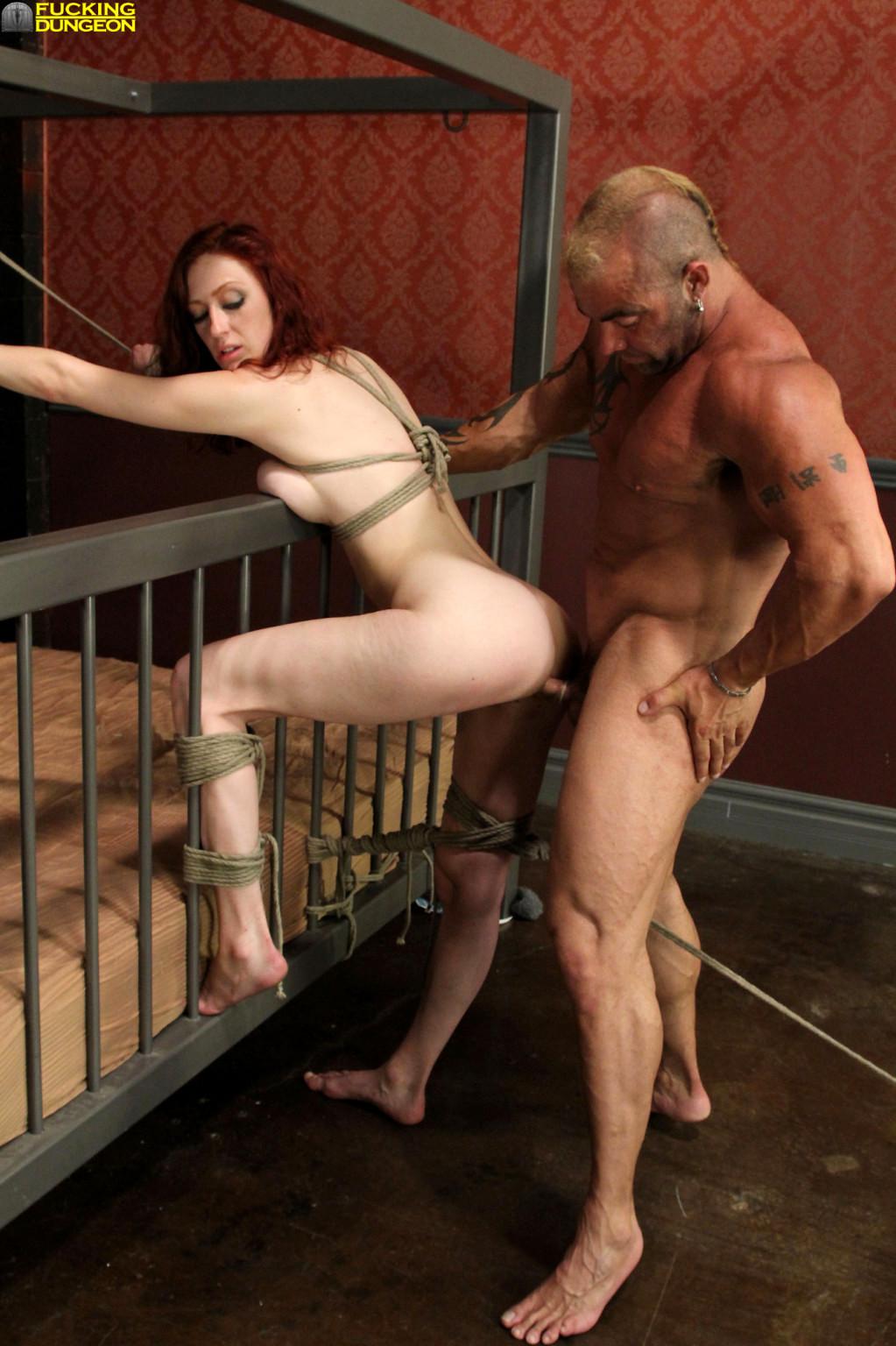 Rough bondage fuck