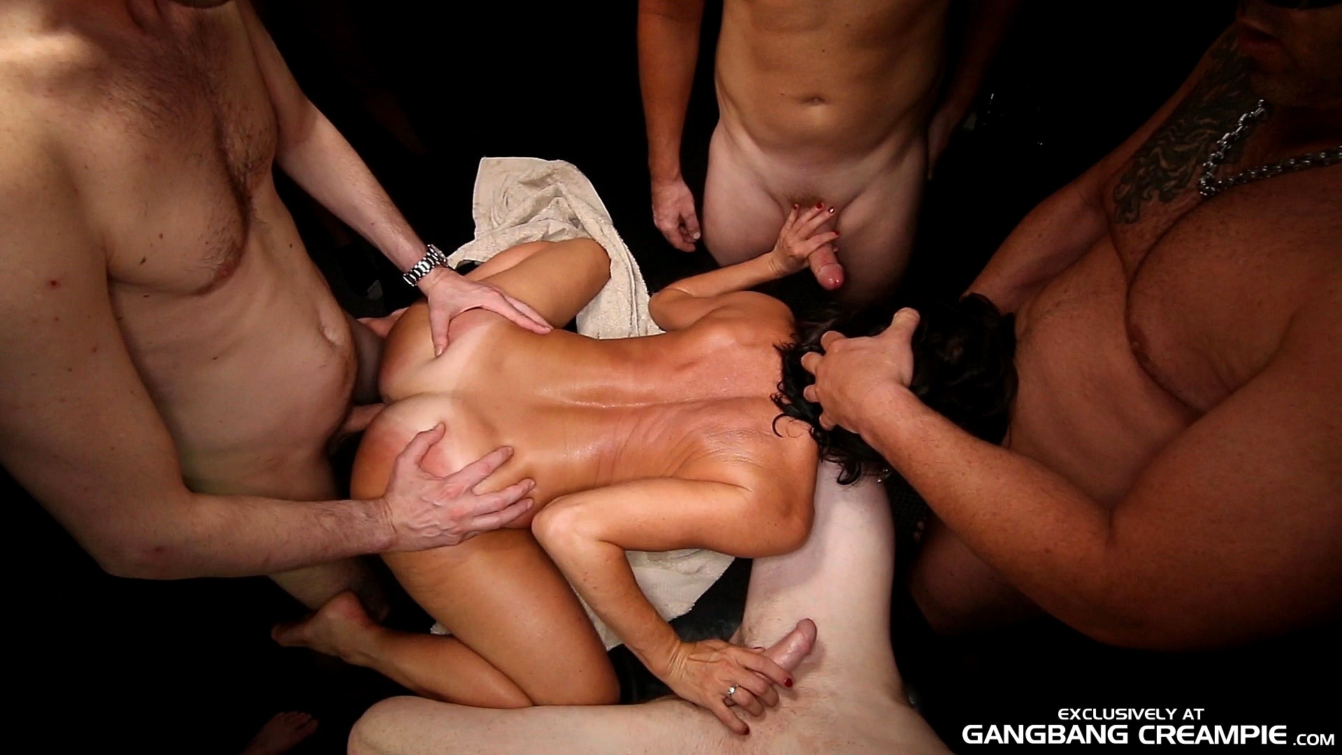 Hot guys gangbang creampie, teacher in stocking porn