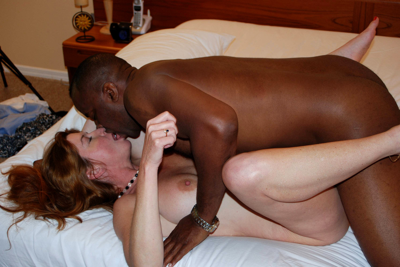 Black man with girl