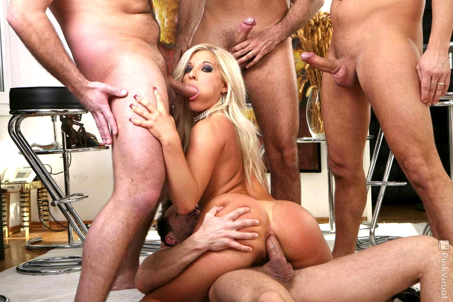 Blonde bitch banged hard