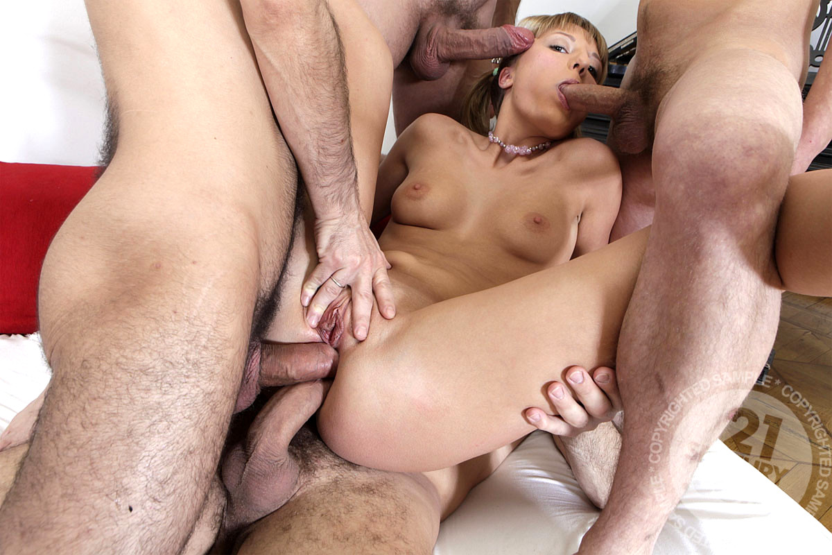 French sandrine double vaginal she is great