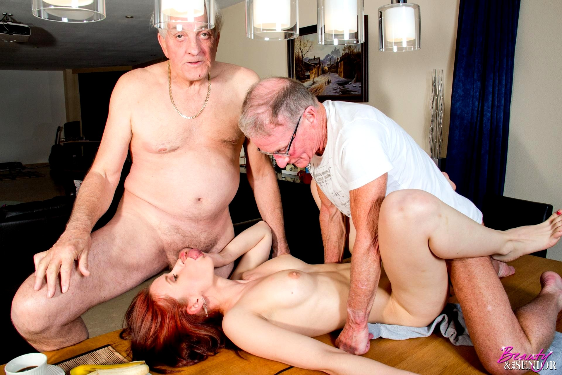 Milf old man cock, beautyful girl and boy