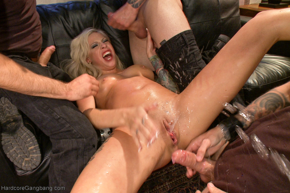 Wife Caught Playing With Herself While Watching Gangbang
