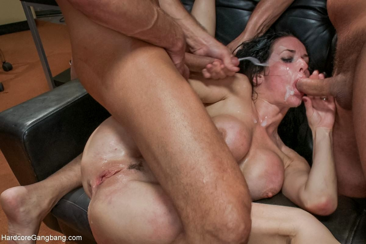 Messy fetish shared ejaculation