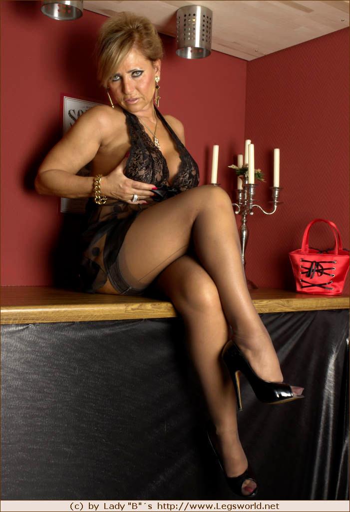 Lady Bs Legs World Lady Barbara Barbara Hyper Nylons -6000