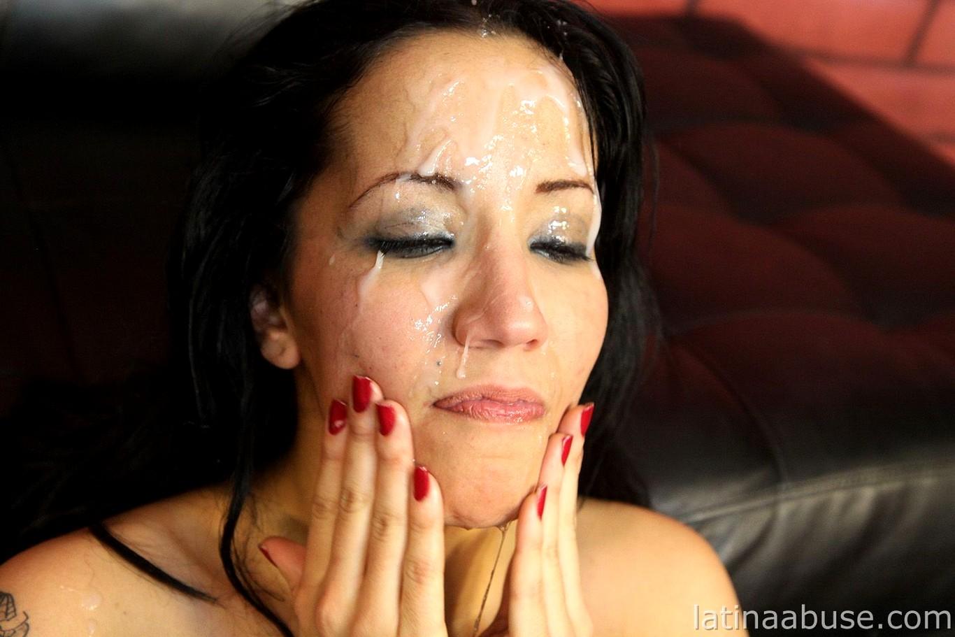Latina abuse josephine nice extreme facial