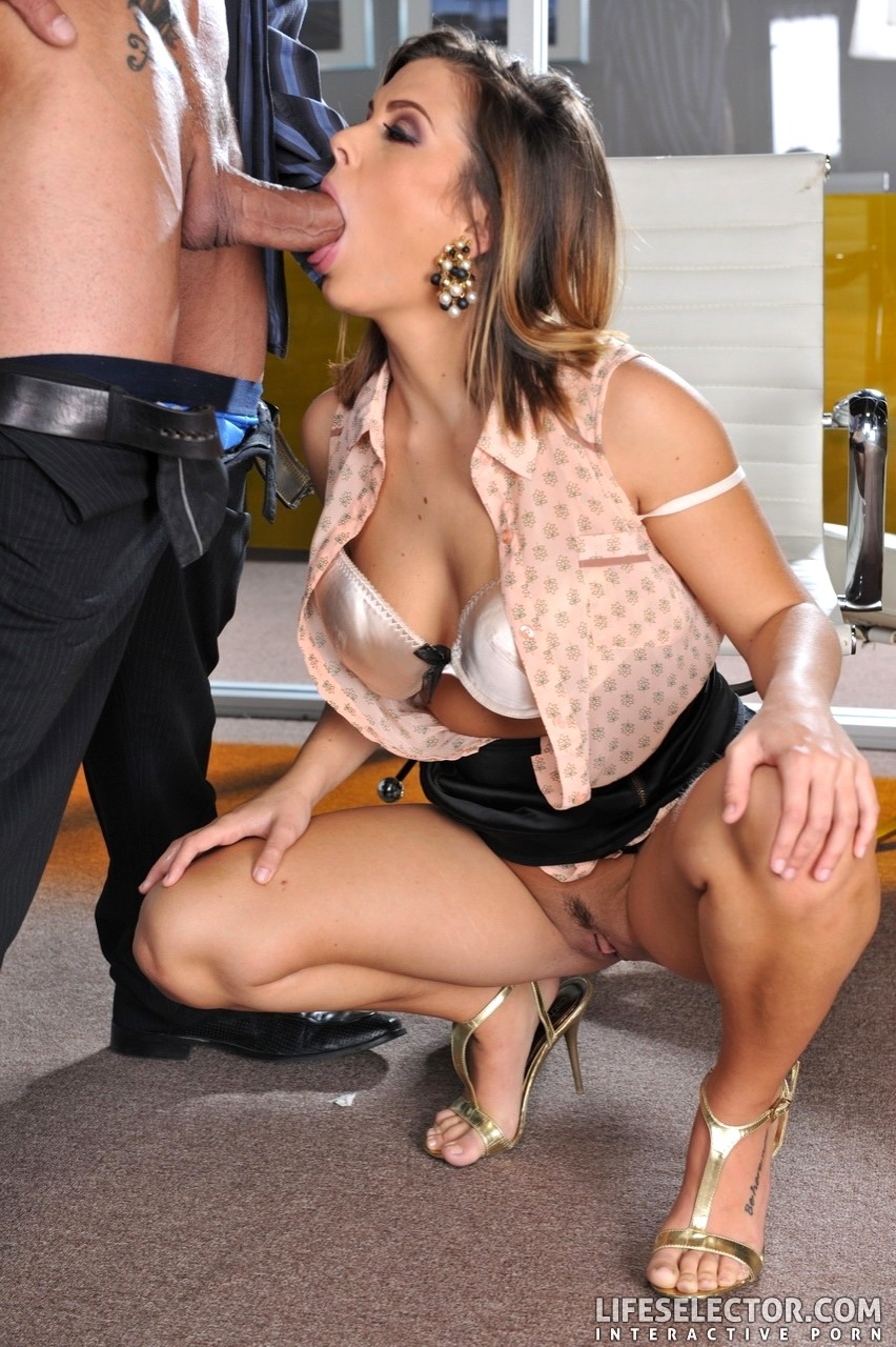 With blowjob in blouse