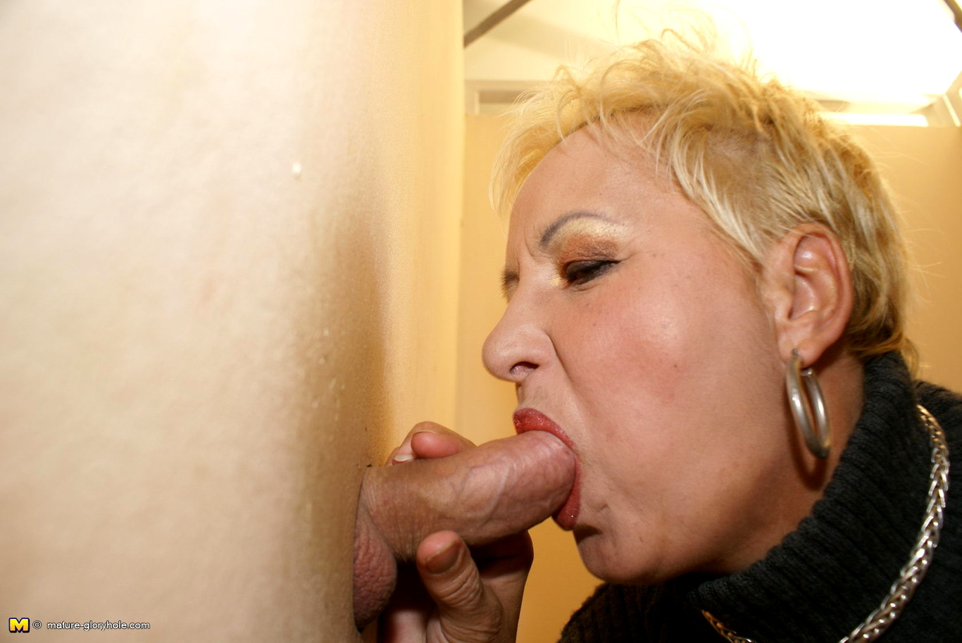 Asian granny glory hole and handjobs