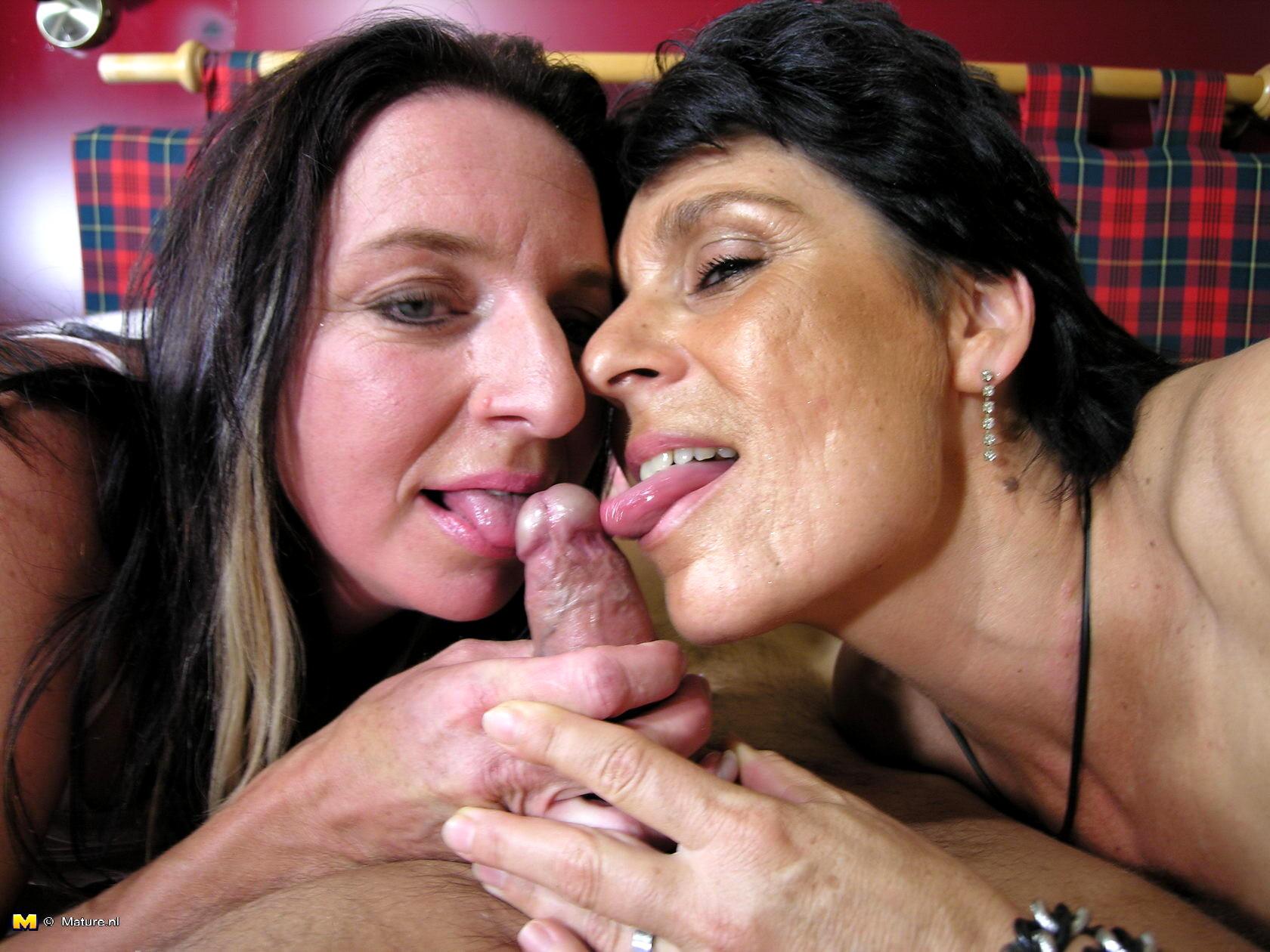 Big Tit Milf Fucks Two Young Cocks