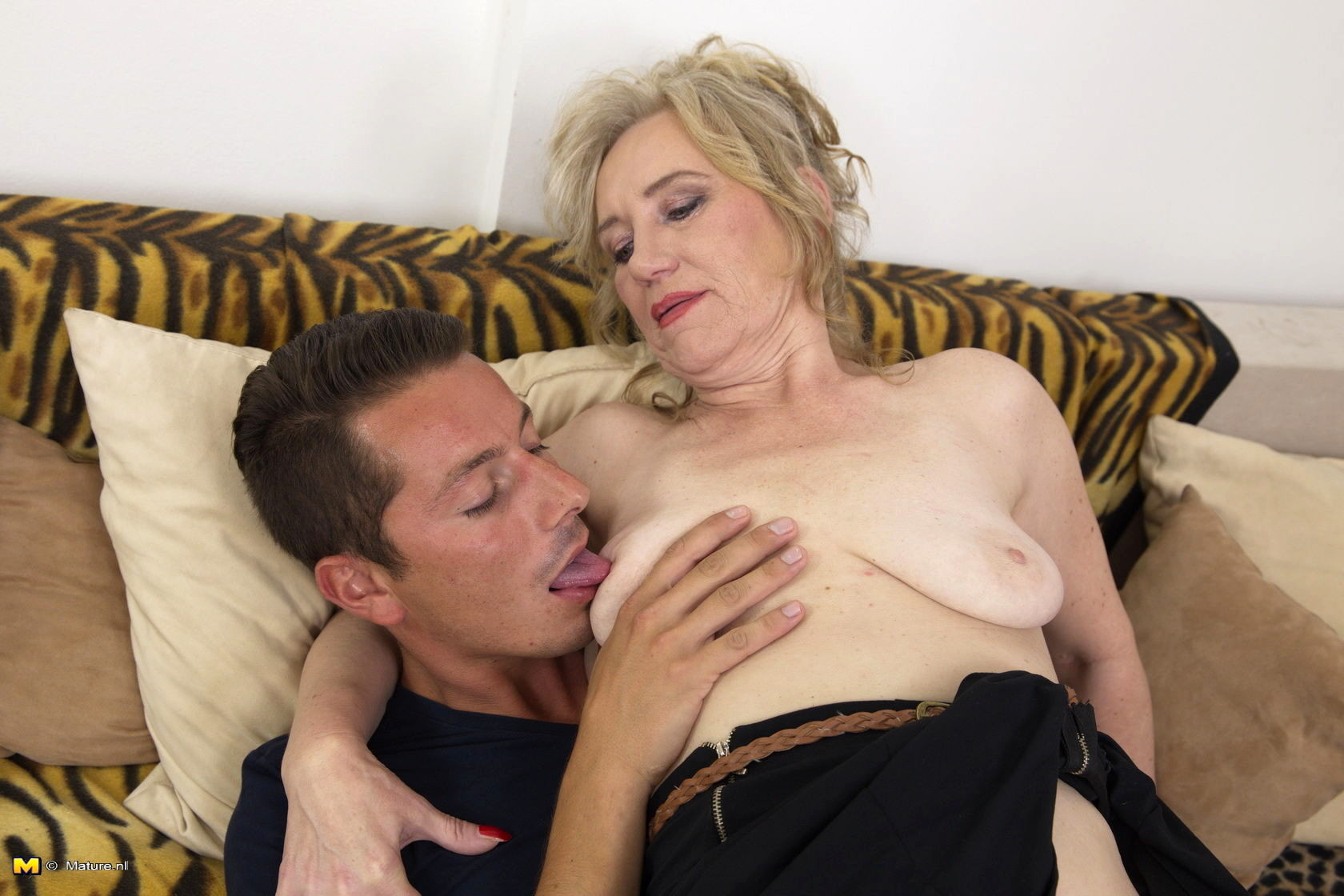 Mature lady with young man #4