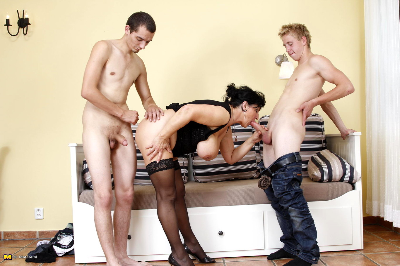Mature with boys at party slutload