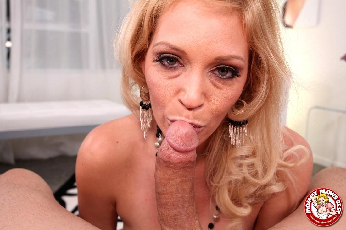 Naked older blonde blowjob
