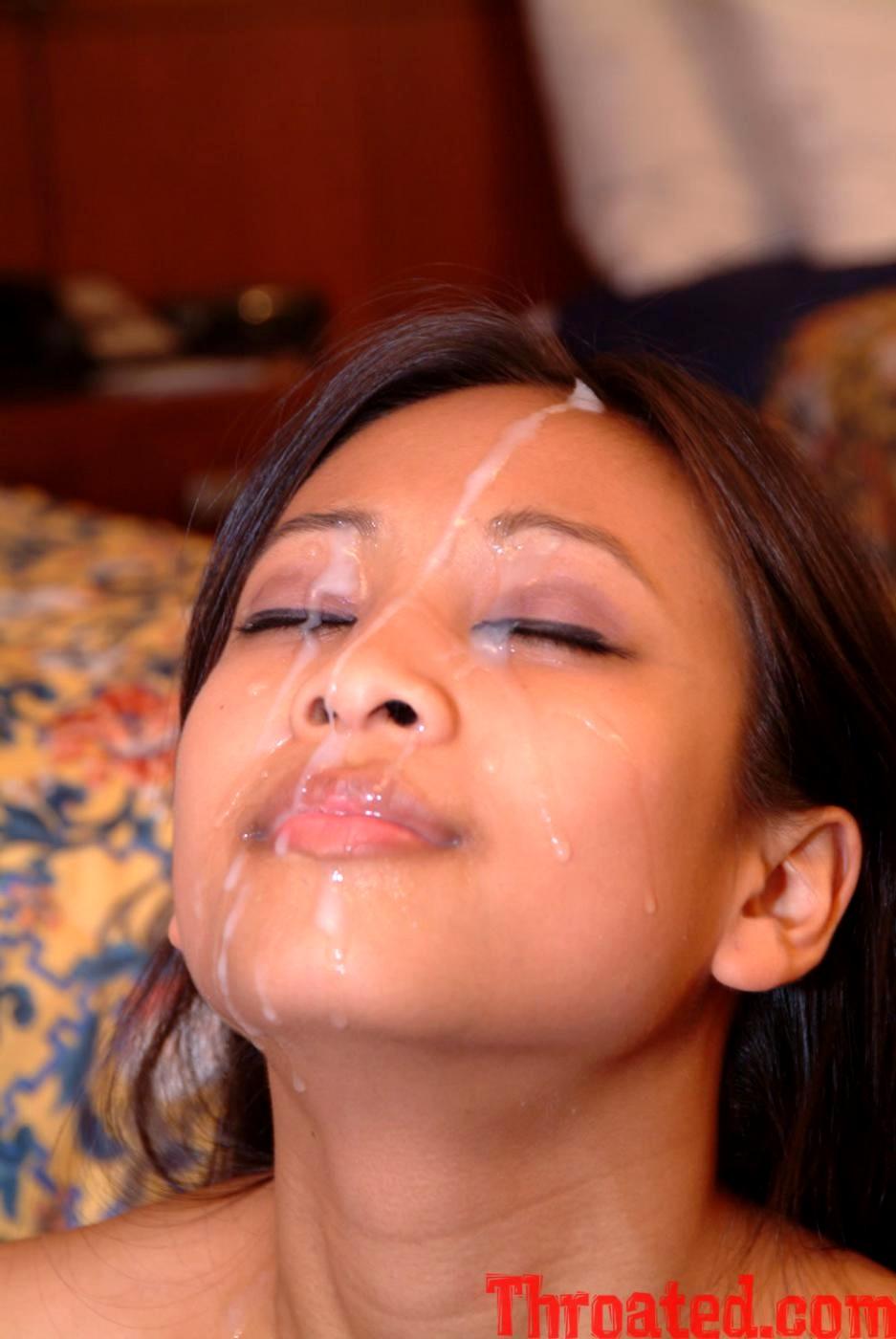очень много спермы на лице китаянки все