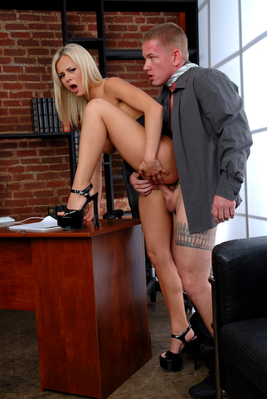 Sexy wife used hard by her boss on business trip