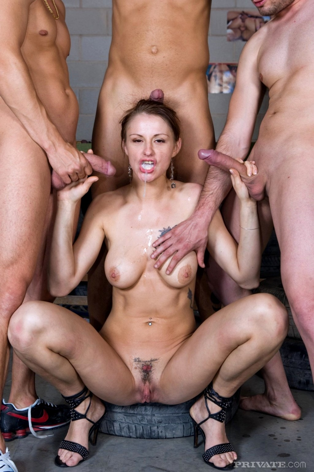 Milf Gets Gang Bang