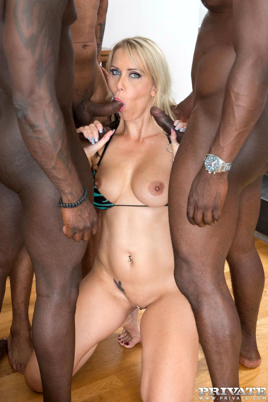 Interracial milf anal gangbang porn