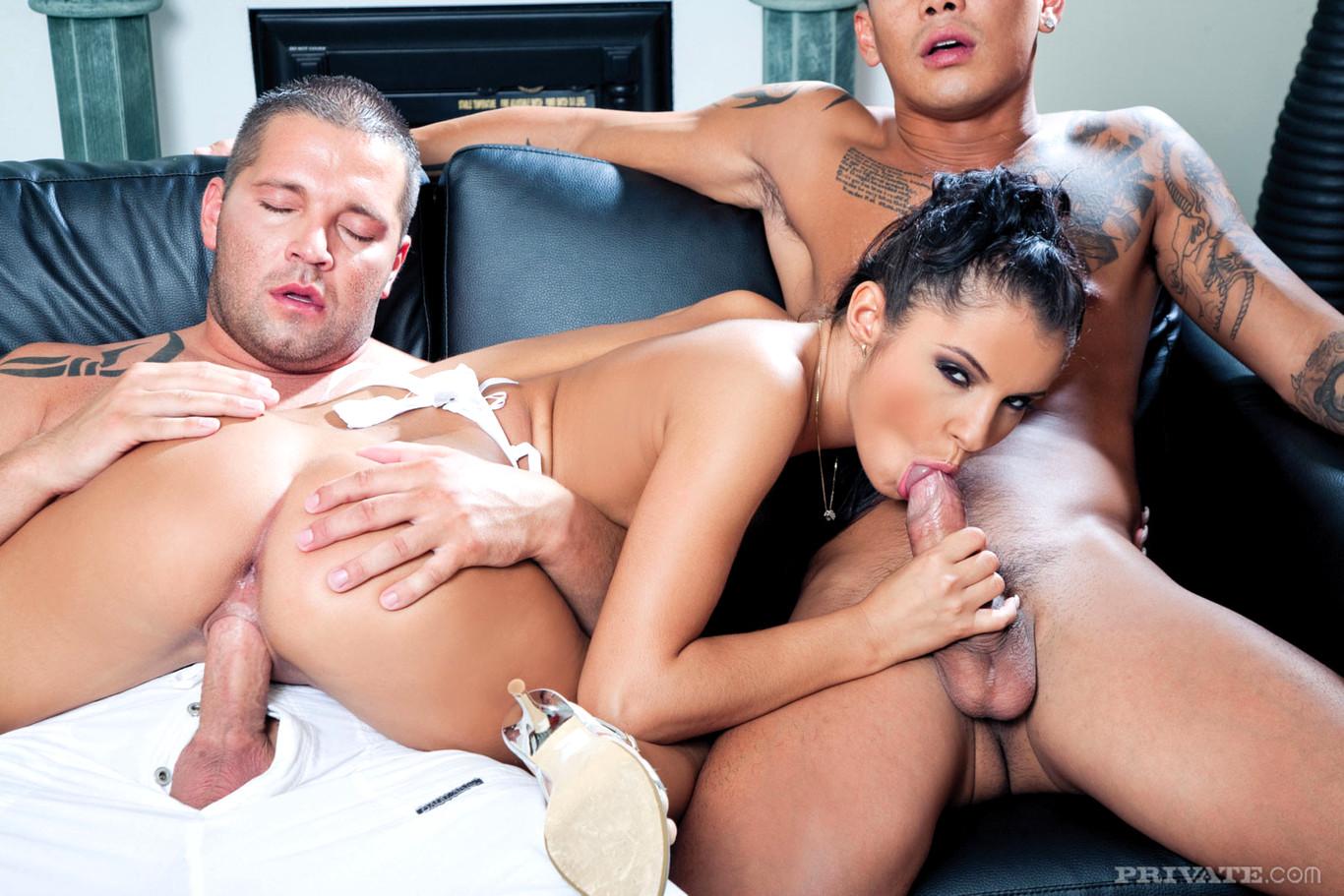 секс с мужиками с двумя хуями