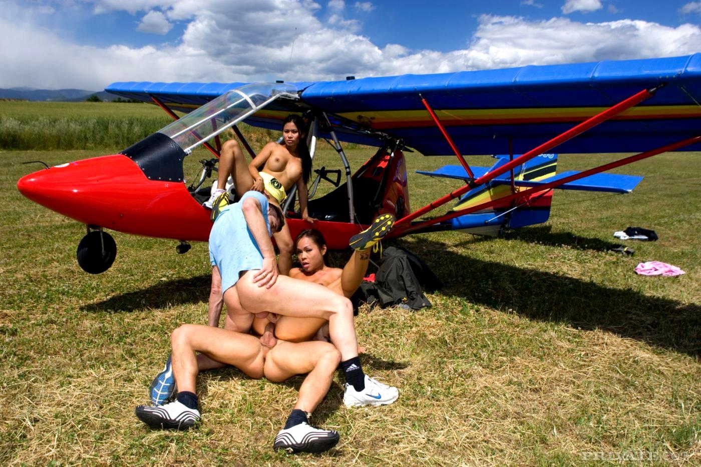 Nudist Teens In A Plane