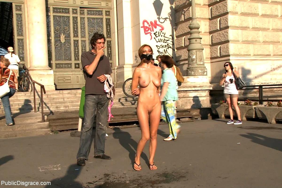 The nude women public disgrace