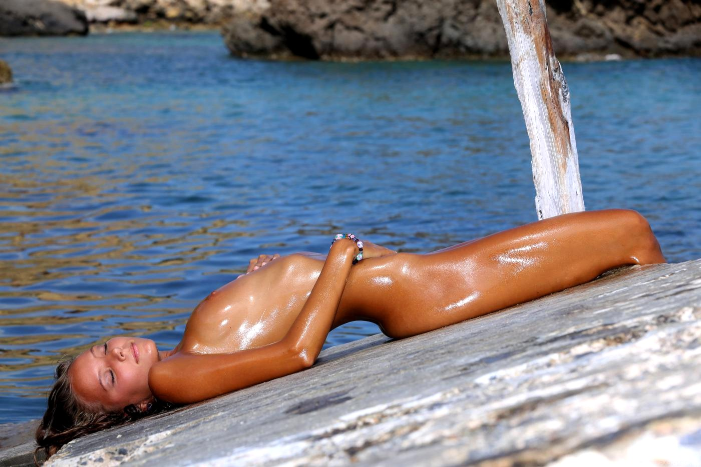 Oiled covered naked females pics