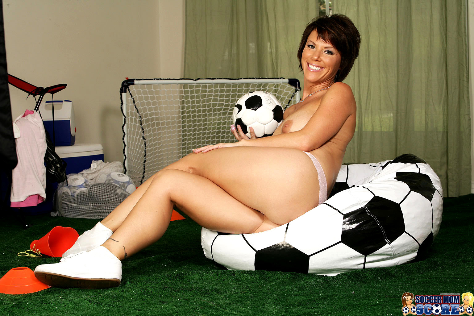 Soccer mom solo masturbation