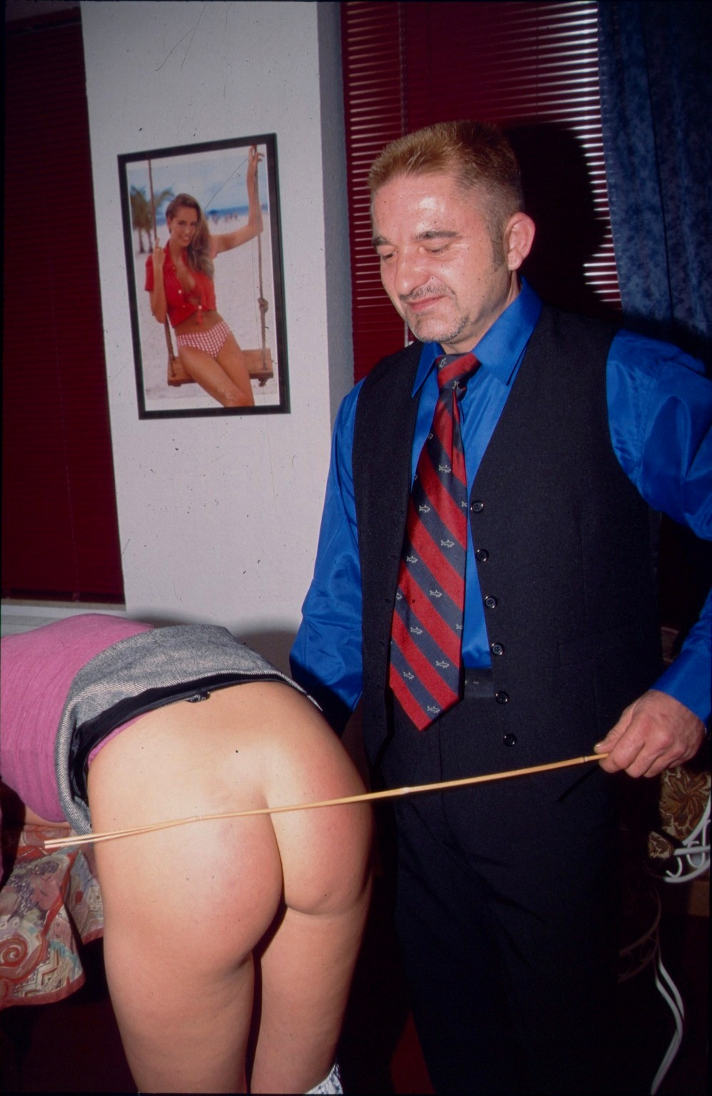 Gay male caning