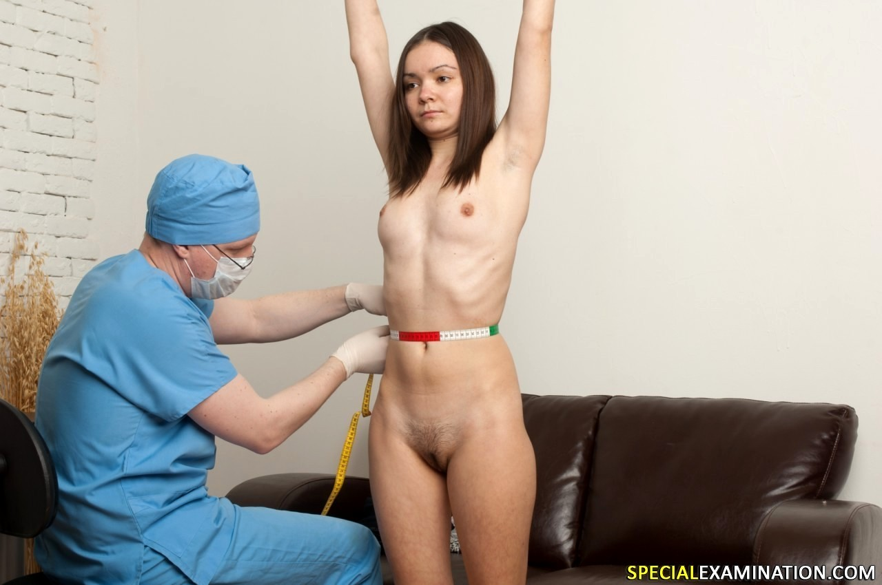 Naked girl with medical doctor