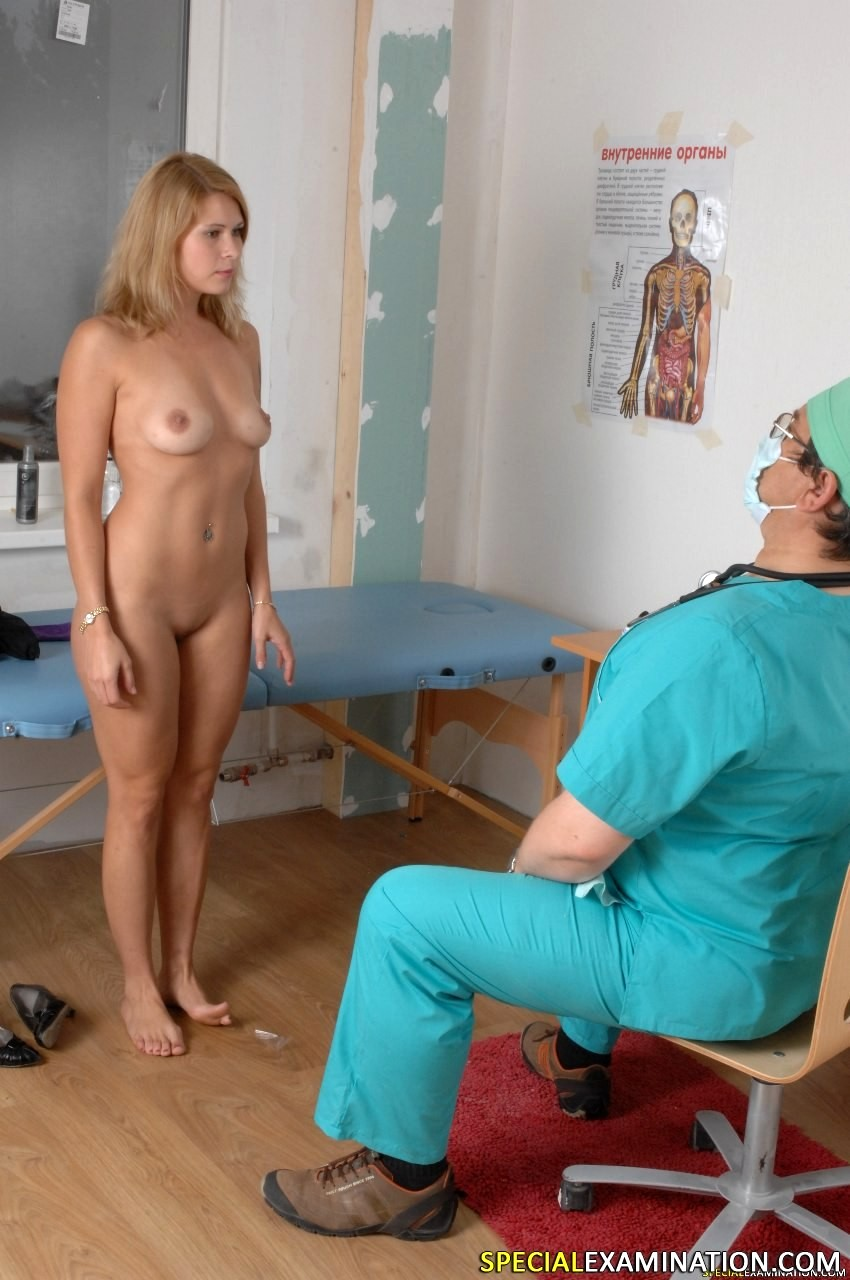 Waiting for doctor naked