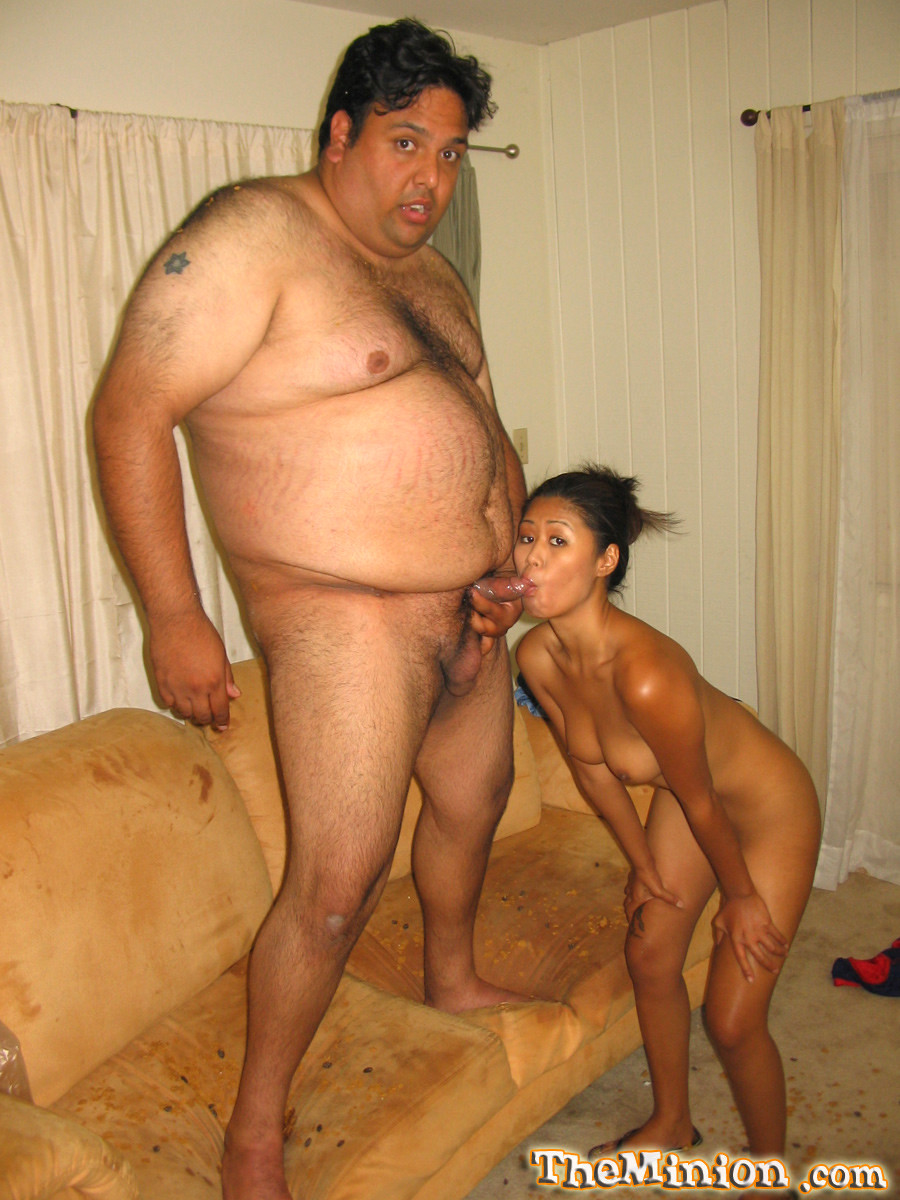 Fat man and fat woman fuck
